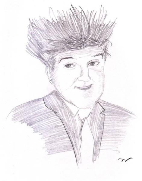 Drawing - Jay Leno Hair Day by M Valeriano