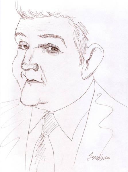 Drawing - Jay Leno by M Valeriano