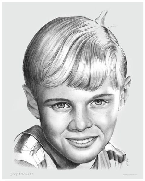 50s Wall Art - Drawing - Jay North by Greg Joens