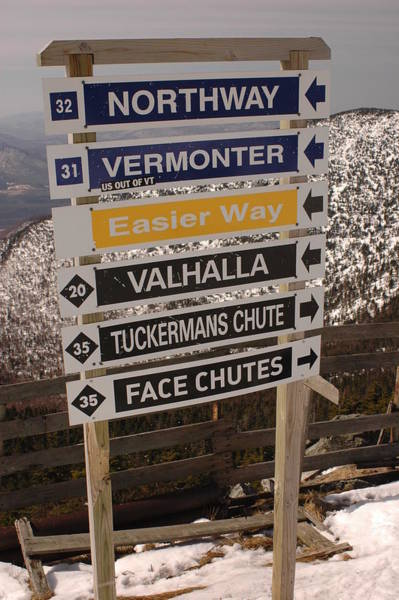 Alligator Alley Photograph - Jay Peak Summit Signs by Michael French