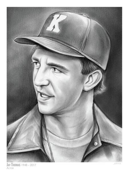 Cheer Wall Art - Drawing - Jay Thomas by Greg Joens