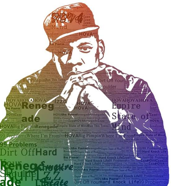 Wall Art - Digital Art - Jay Z Typography by Dan Sproul