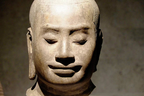 Photograph - Jayavarman Head by August Timmermans