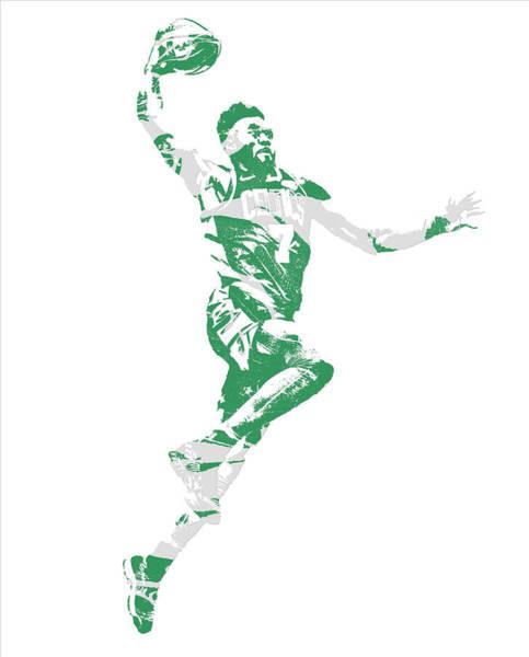 Wall Art - Mixed Media - Jaylen Brown Boston Celtics Pixel Art 10 by Joe Hamilton