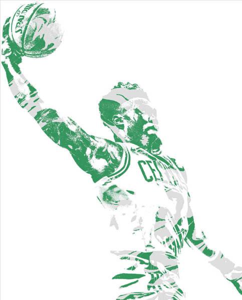 Wall Art - Mixed Media - Jaylen Brown Boston Celtics Pixel Art 11 by Joe Hamilton