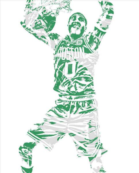 Wall Art - Mixed Media - Jayson Tatum Boston Celtics Pixel Art 11 by Joe Hamilton