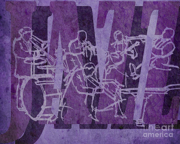 Hat Mixed Media - Jazz 32 Hot Seven - Purple by Drawspots Illustrations