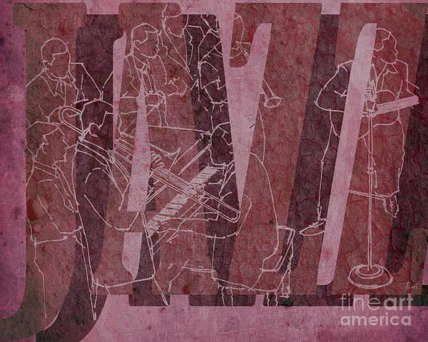 Wall Art - Drawing - Jazz 34 Duke Ellington - Red by Drawspots Illustrations