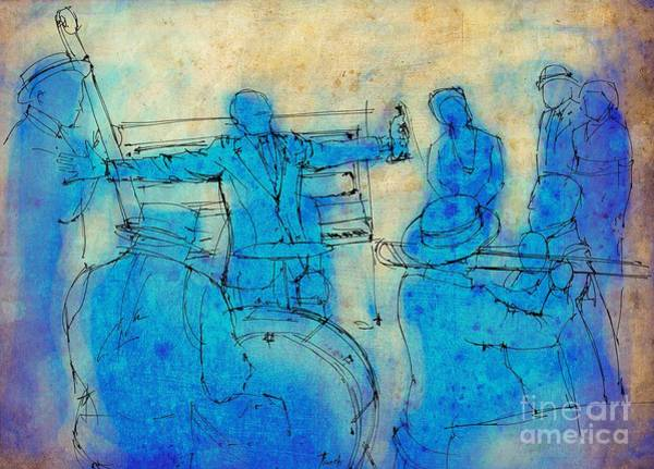 Wall Art - Painting - Jazz And Blues On Stage by Drawspots Illustrations