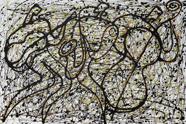Wall Art - Painting - Jazz And Pollock by Leon Zernitsky