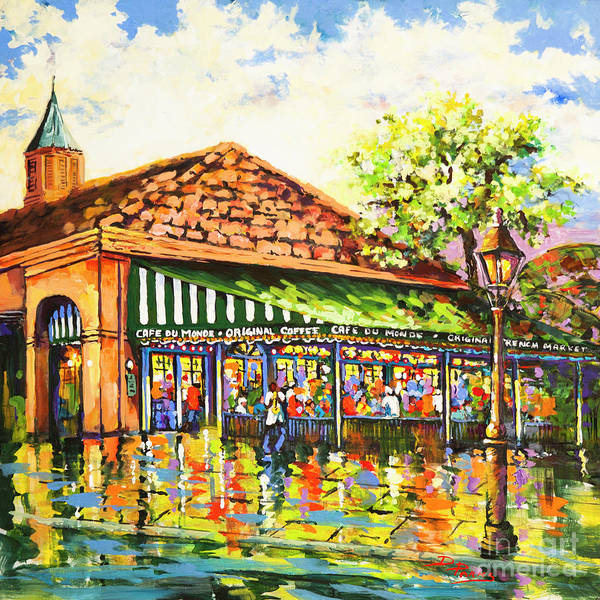 Painting - Jazz At Cafe Du Monde by Dianne Parks