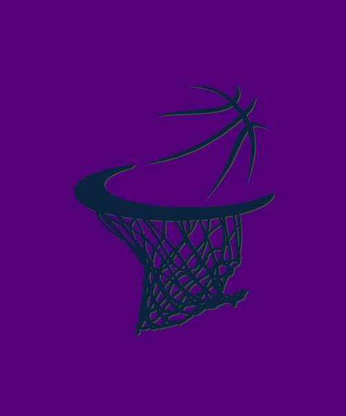Hoodies Photograph - Jazz Basketball Hoop by Joe Hamilton