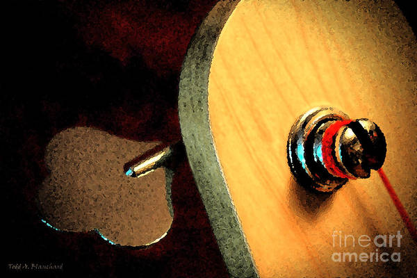 Digital Art - Jazz Bass Tuner by Todd Blanchard