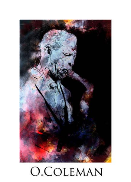 Free Jazz Painting - Jazz Coleman by Steve K