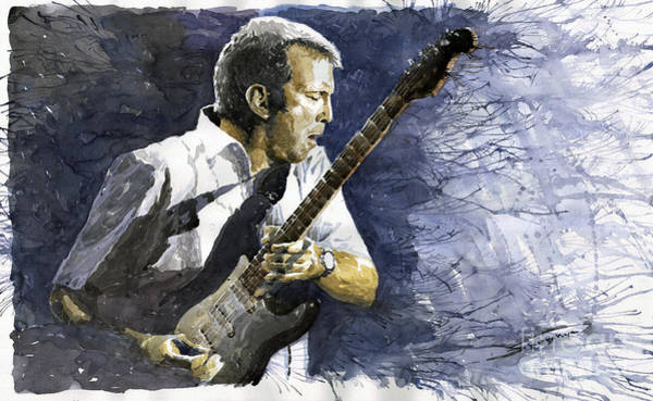 Guitarist Wall Art - Painting - Jazz Eric Clapton 1 by Yuriy Shevchuk