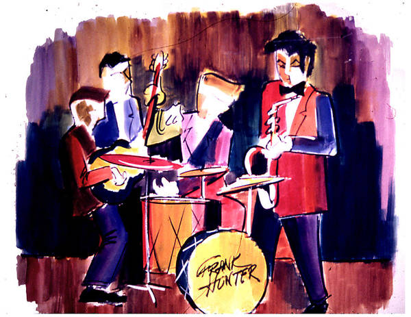 Painting - Jazz by Frank Hunter