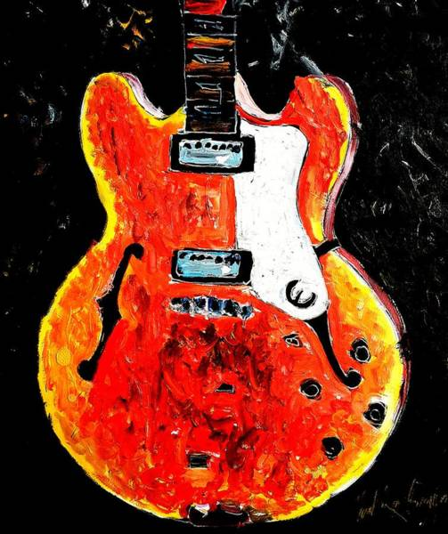 Painting - Jazz Guitar by Neal Barbosa