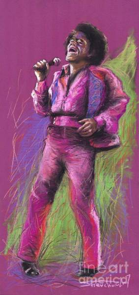 James Wall Art - Painting - Jazz James Brown by Yuriy Shevchuk