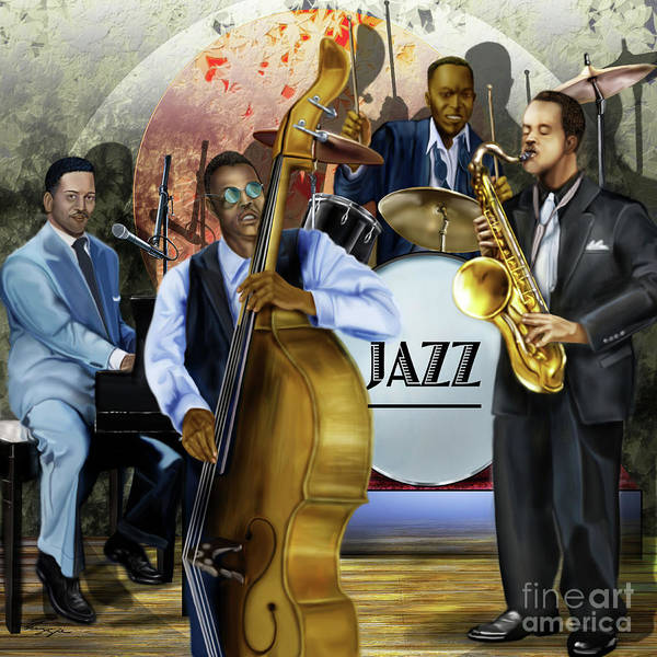 Painting - Jazz Jazz Jazz by Reggie Duffie