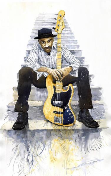 Wall Art - Painting - Jazz Marcus Miller 4 by Yuriy Shevchuk
