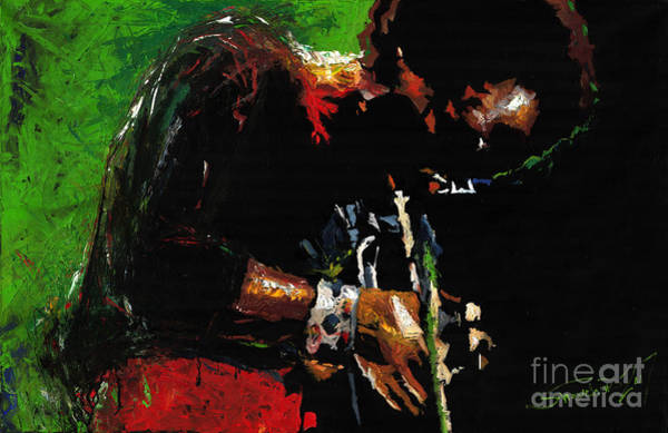 African American Painting - Jazz Miles Davis 1 by Yuriy Shevchuk