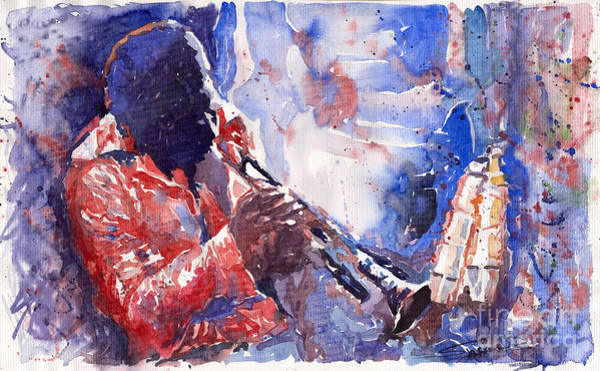 Music Wall Art - Painting - Jazz Miles Davis 15 by Yuriy Shevchuk