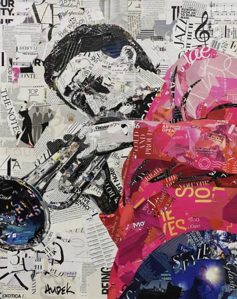 Trumpet Mixed Media - Jazz Notes by James Hudek