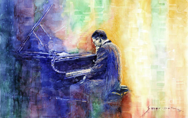 Wall Art - Painting - Jazz Pianist Herbie Hancock  by Yuriy Shevchuk
