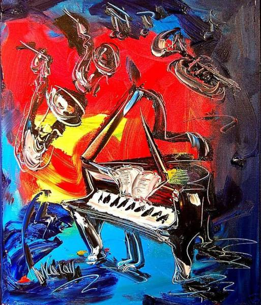 Chicago River Digital Art - Jazz Piano by Mark Kazav