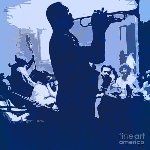 Wall Art - Drawing - Jazz Player On Stage by Drawspots Illustrations