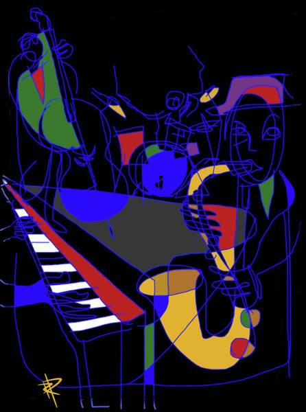 Wall Art - Digital Art - Jazz Quartet by Russell Pierce