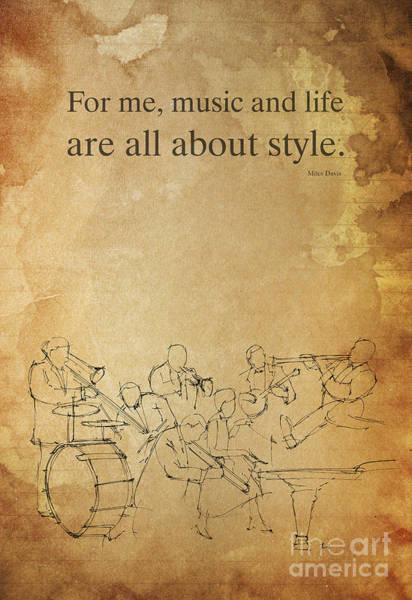 Wall Art - Drawing - Jazz Quote And Jazz Band by Drawspots Illustrations