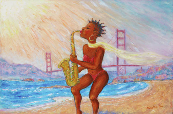 Painting - Jazz San Francisco by Xueling Zou