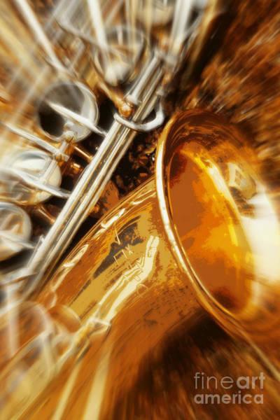 Photograph - Jazz Saxaphone by Carol Groenen