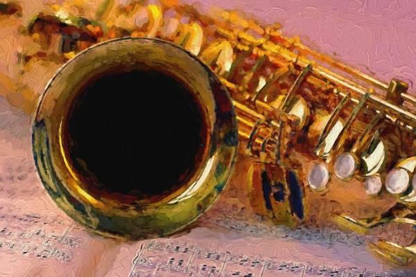 Sax Painting - Jazz Saxophone by Louis Ferreira