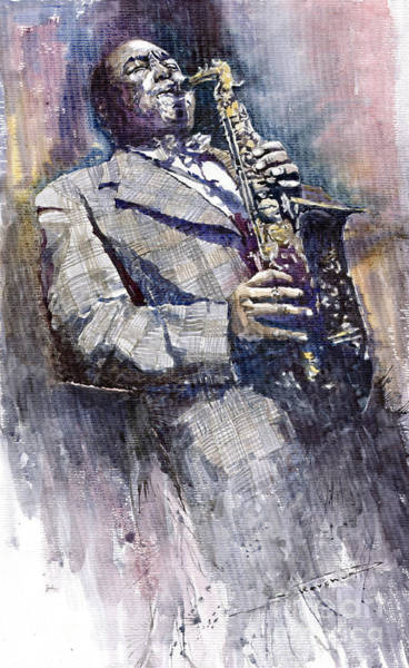 Wall Art - Painting - Jazz Saxophonist Charlie Parker by Yuriy Shevchuk