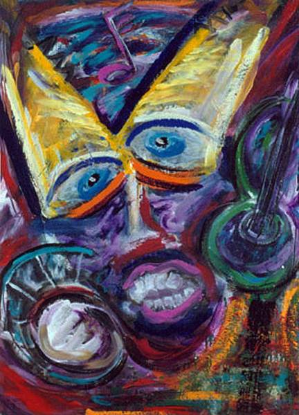 Mixed Media - Jazz Singer by Banning Lary