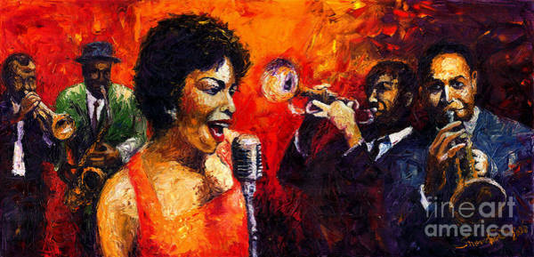 Song Wall Art - Painting - Jazz Song by Yuriy Shevchuk