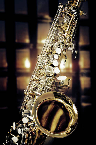 Photograph - Jazz Tenor Saxophone 3252.02 by M K Miller