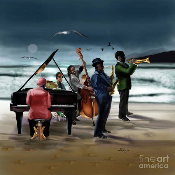 Painting - Jazz The Cool Of The Ocean by Reggie Duffie