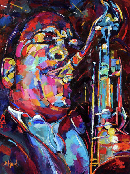 John Coltrane Wall Art - Painting - Jazz Trane by Debra Hurd