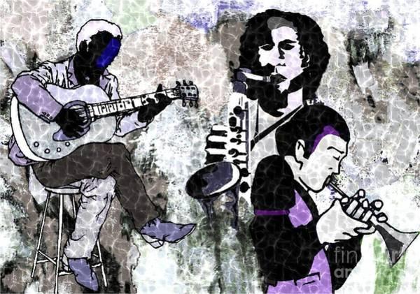 Jazz Trio Digital Art - Jazz Trio by Mimo Krouzian