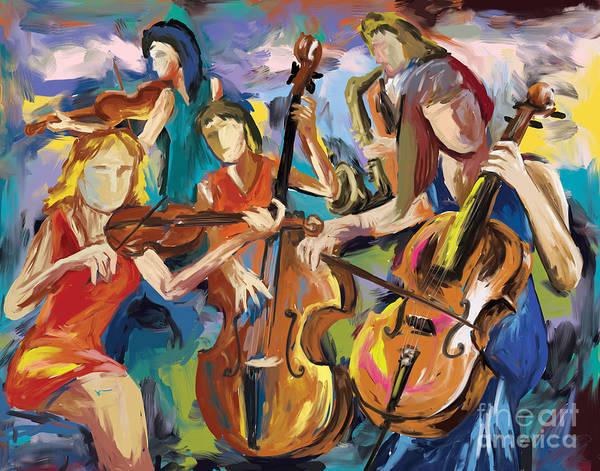 Sax Painting - Jazz Women by Tim Gilliland
