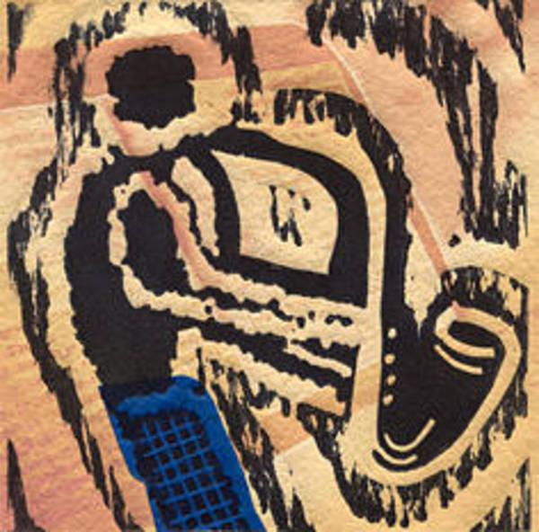 Linoleum Mixed Media - jazzthings club II by MasauR Maite sanchez