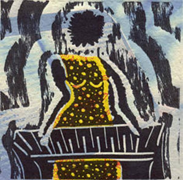 Linoleum Mixed Media - jazzthings club III by MasauR Maite sanchez