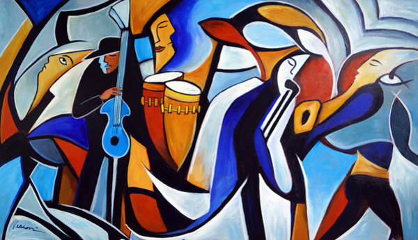 Conga Drum Painting - Jazzz For Ed by Valerie Vescovi