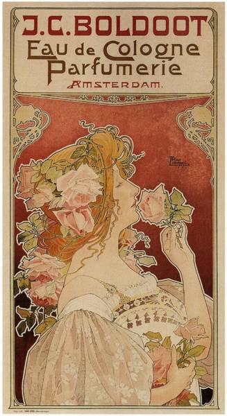 Art Nouveau Mixed Media - J.c Boldoot Eau De Cologne Parfumerie - Amsterdam - Vintage Advertising Poster by Studio Grafiikka