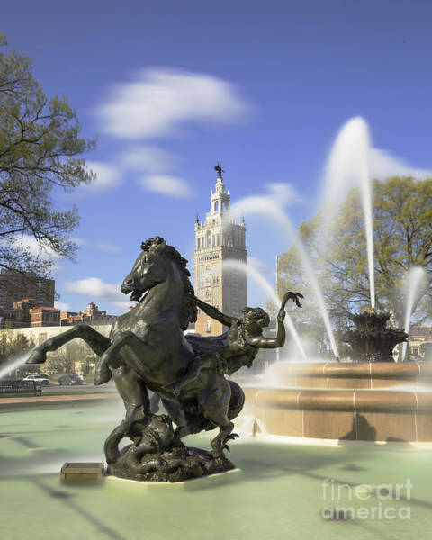 Country Club Plaza Photograph - Jc Nichols Fountain 2 by Dennis Hedberg