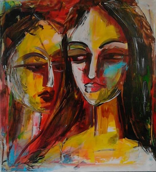 Wall Art - Painting - Jealousy by Sudumenike Wijesooriya