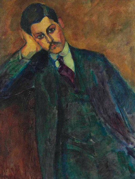 Mustache Painting - Jean Alexandre, 1909 by Amedeo Modigliani